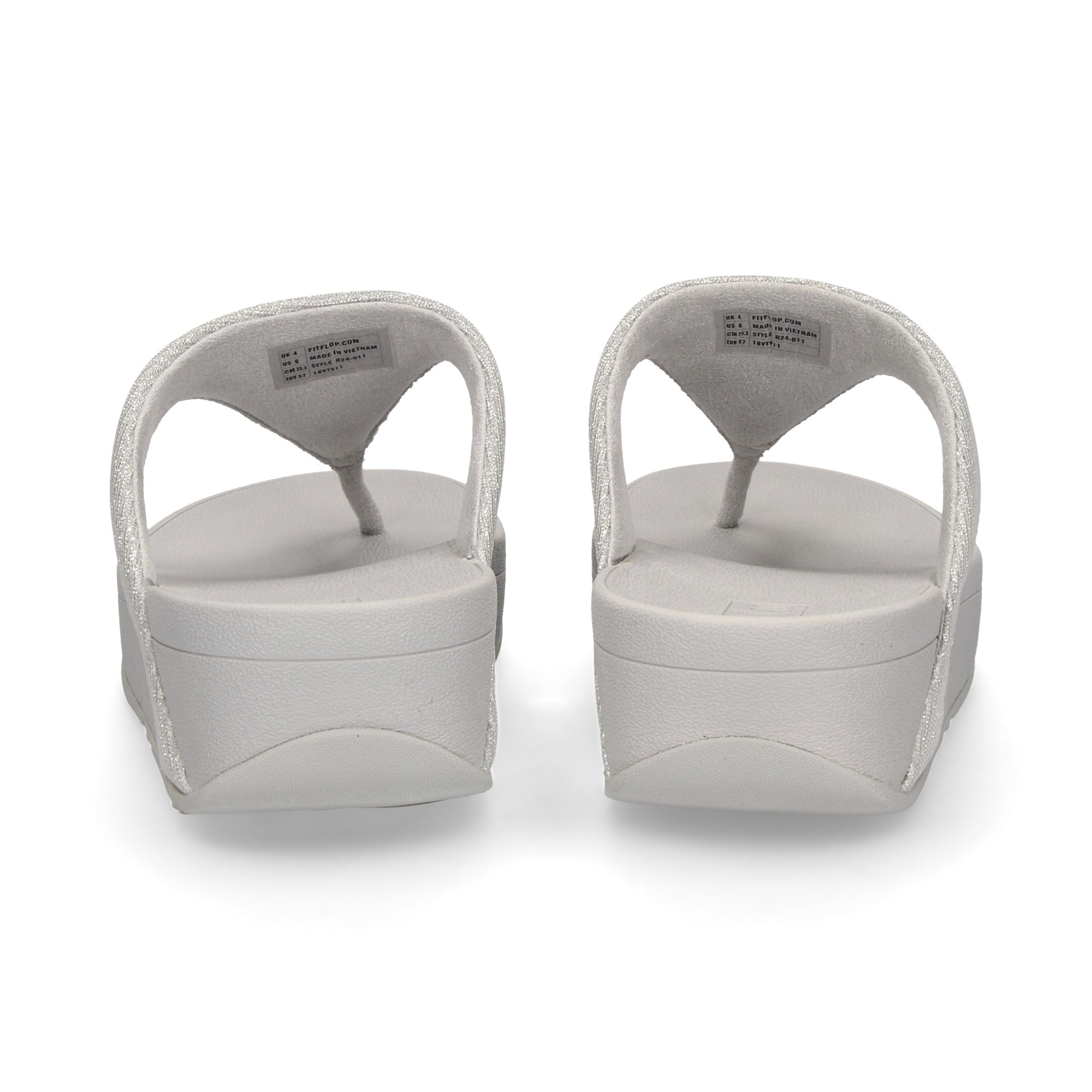 Fitflop Women S Wedge Sandals R24 Silver 011