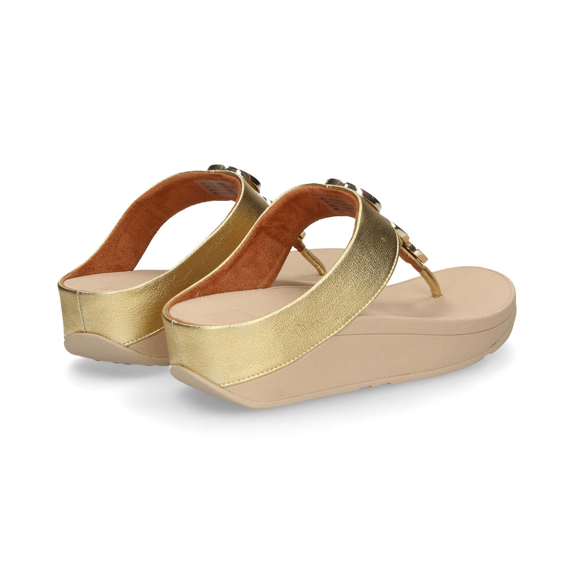 T36 Fitflop Sandalias Mujer Cuña De Gold 667 Ibyvf76gYm