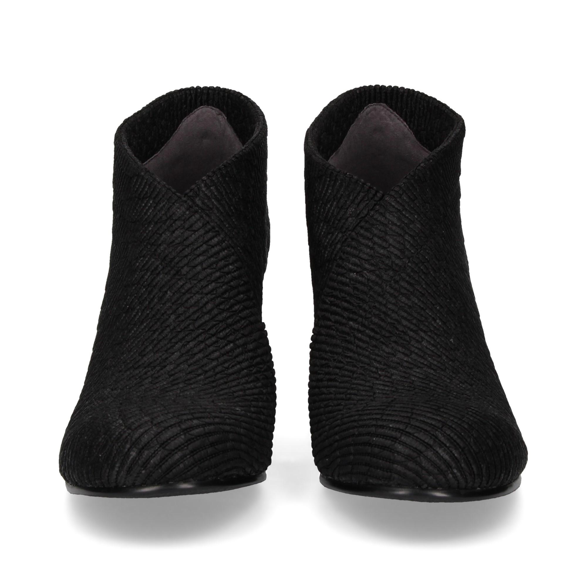 botin-textil-piton-negro