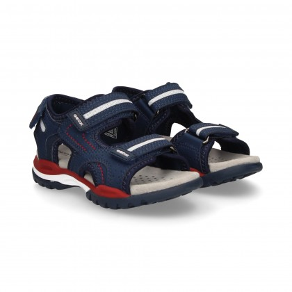 2 VELCRO SANDALS BLUE/RED