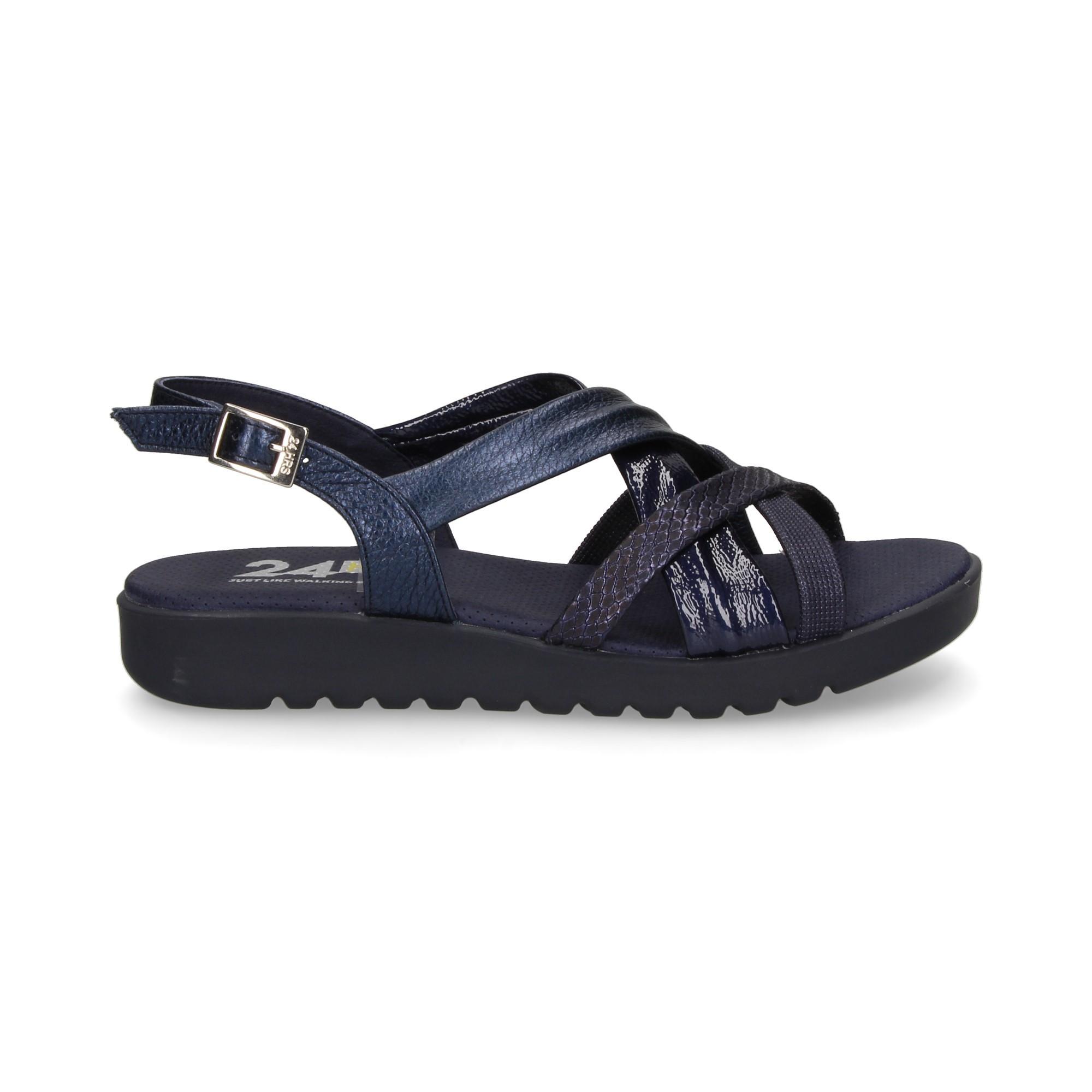 Planas Mujer Azul Sandalias De 24 24087 Horas XPZiTkuwO