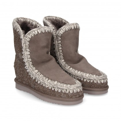 1/2 WEDGE BOOT 5M GREY OPENWORK