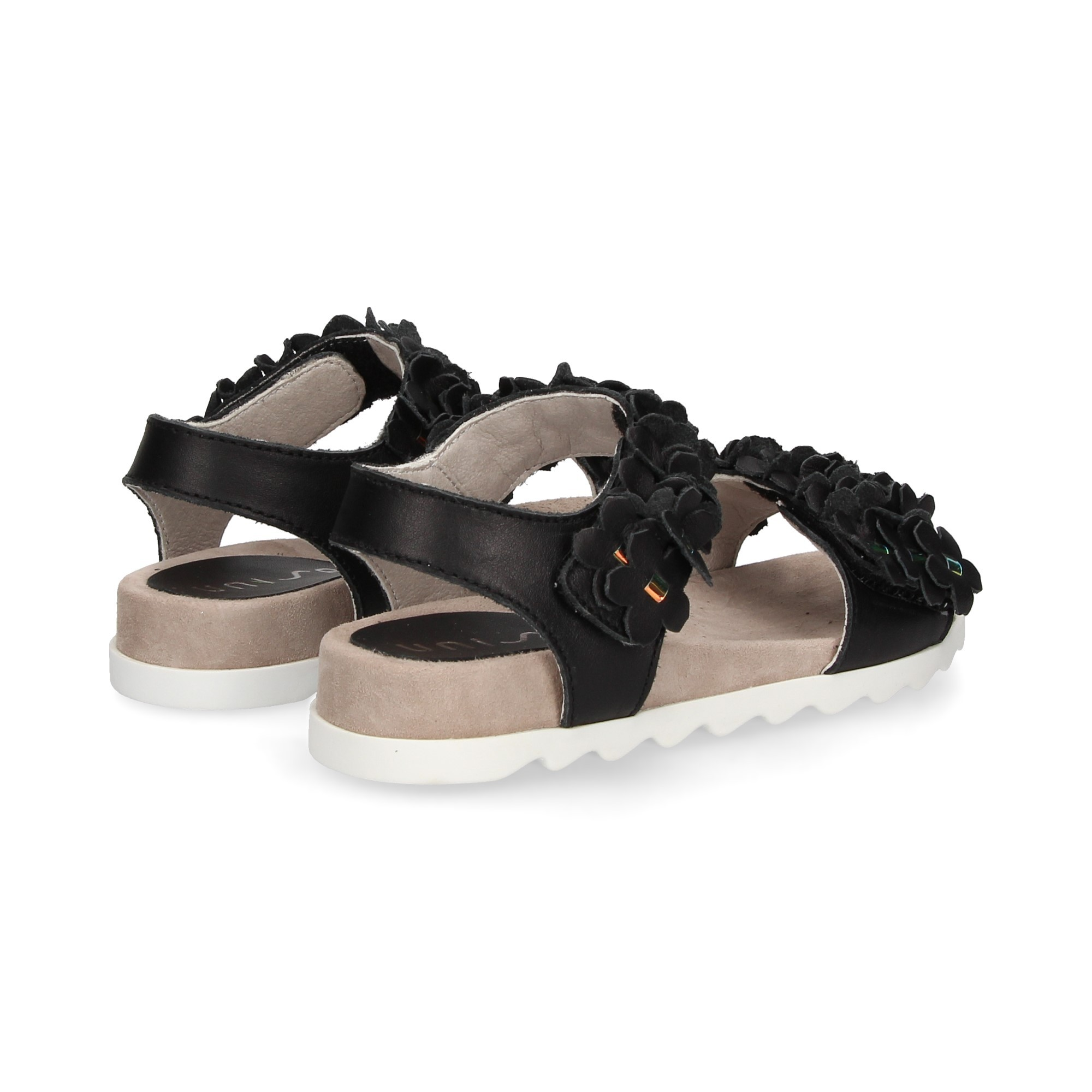 sandalia-flores-piel-negro