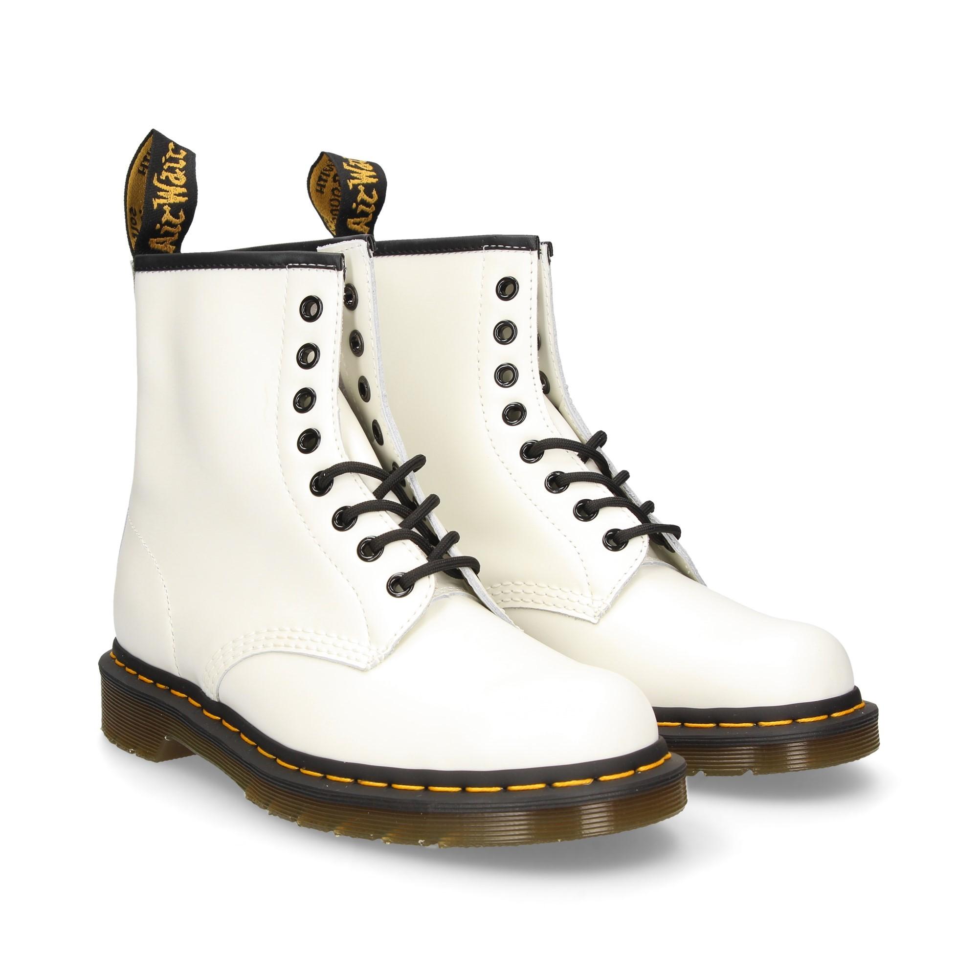 DR MARTENS Damen Flache Ankle boots 1460 BLANCO