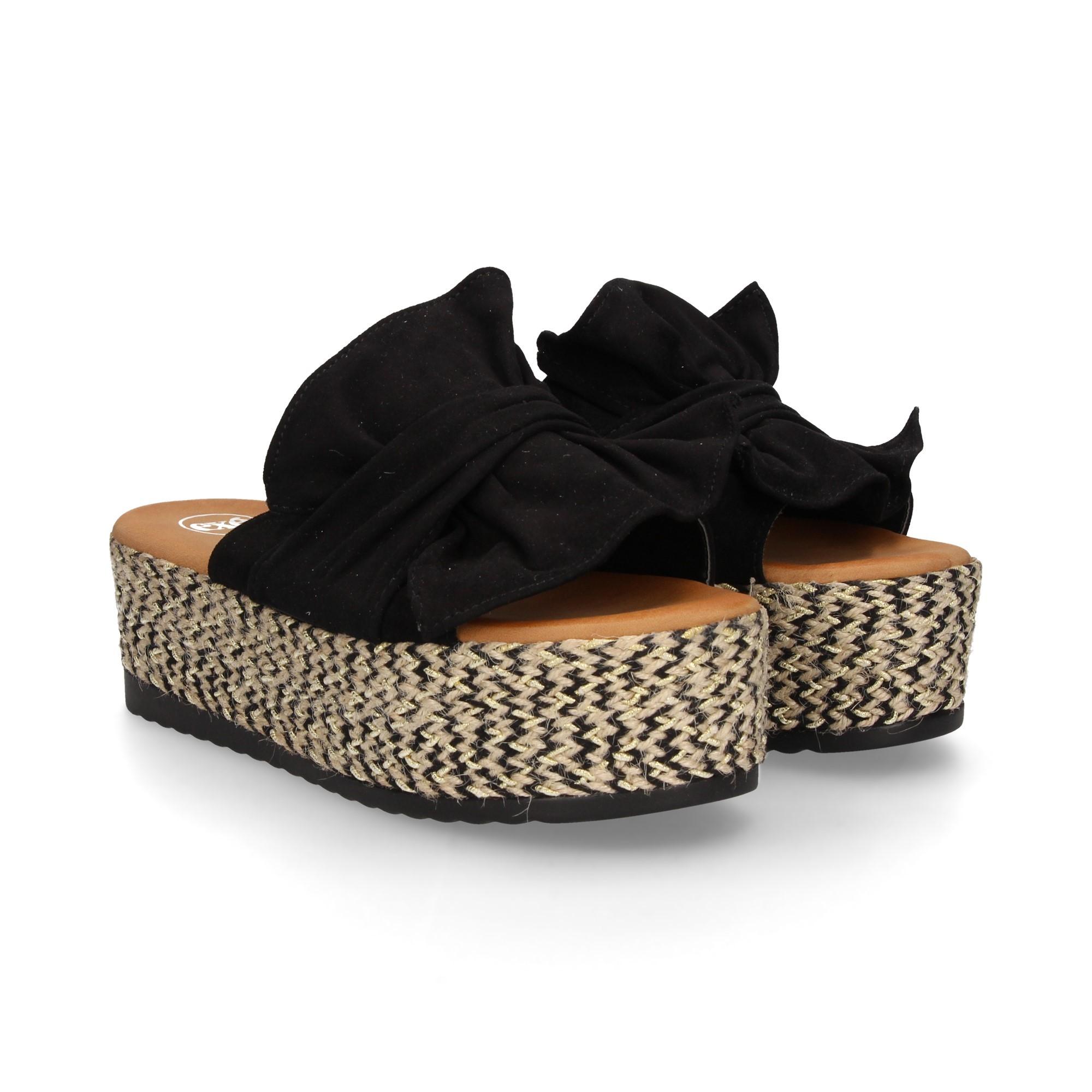 Mujer Cuña Sandalias De Crdbxeoqw Negro B 8896 Exe Y7vfb6gy