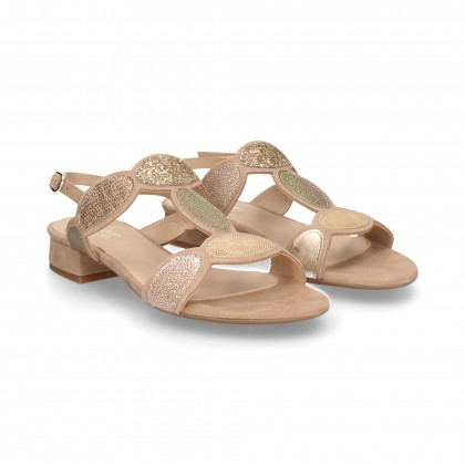 9471bb85c sandalia-atada-ovalos-topos-ante-nude ...