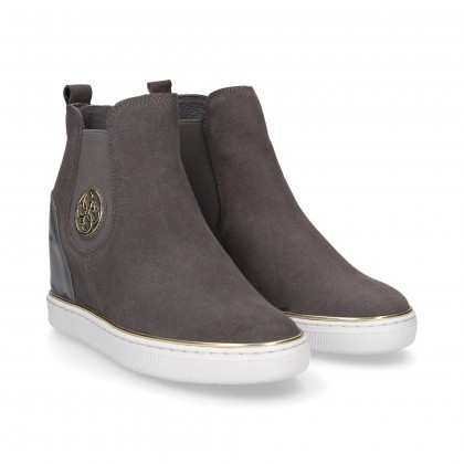 GREY SUEDE INNER WEDGE BOOT