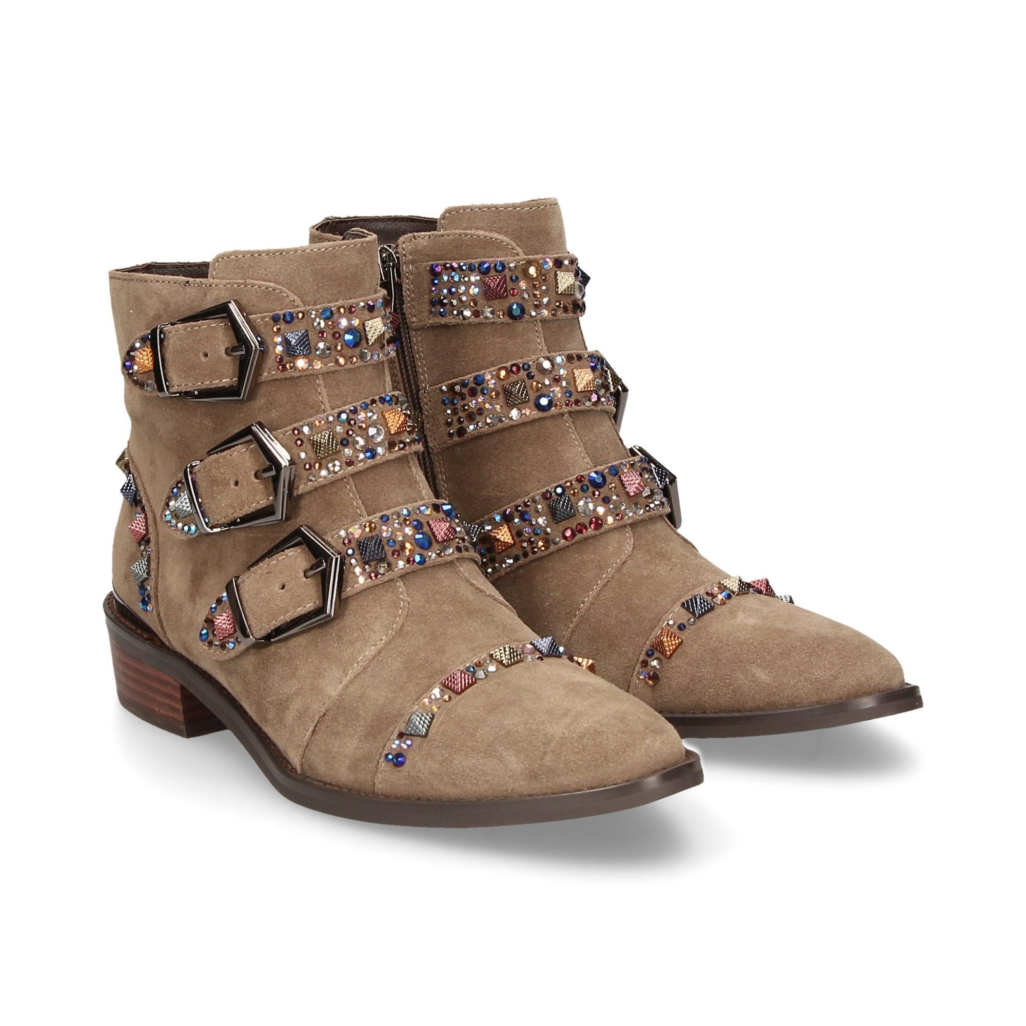 Óxido clase consumirse  ALMA EN PENA Women's flat ankle boots 262 TAUPE