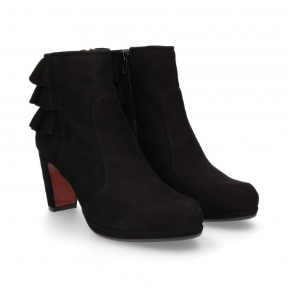 BLACK SUEDE FLYING BOOTS