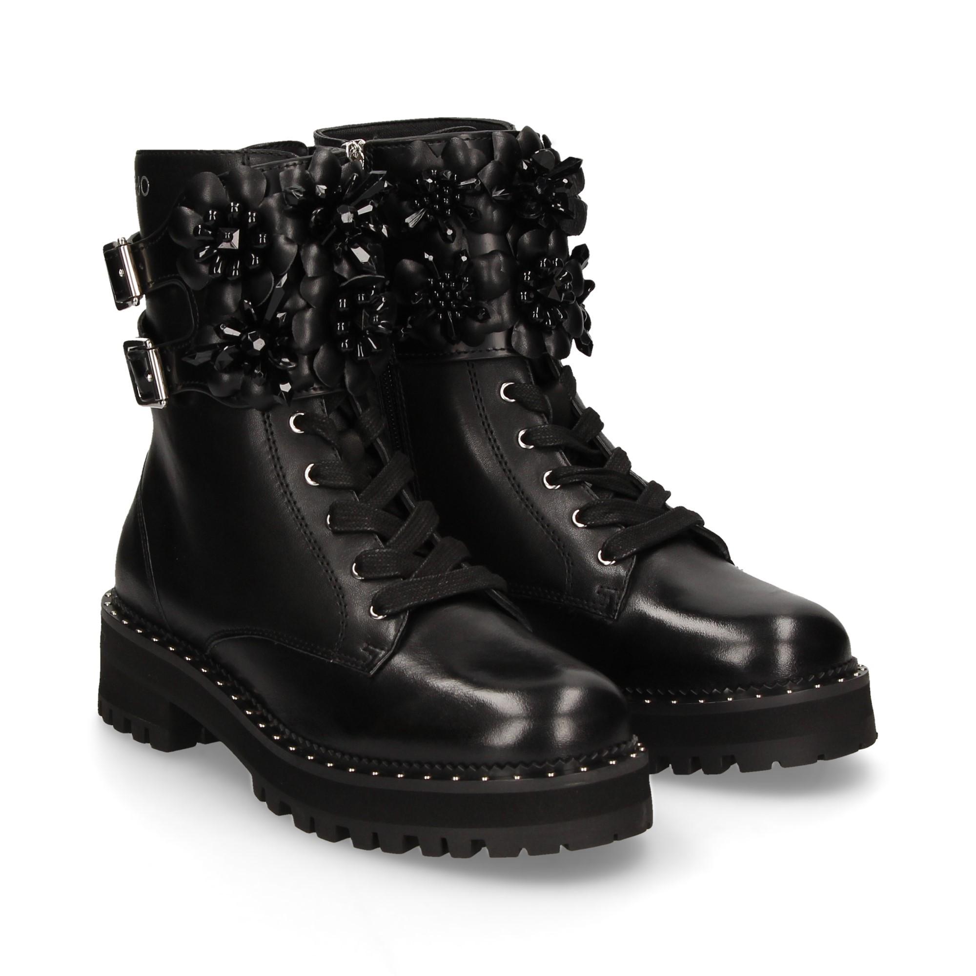 Adjunto archivo Circunstancias imprevistas Hobart  LIU·JO Women's flat ankle boots S69103 PX015 22222 NEGRO