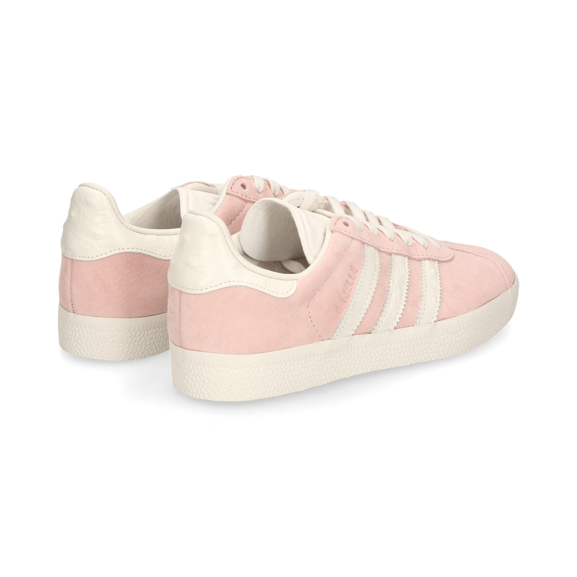 adidas gazelle rosa y blanca