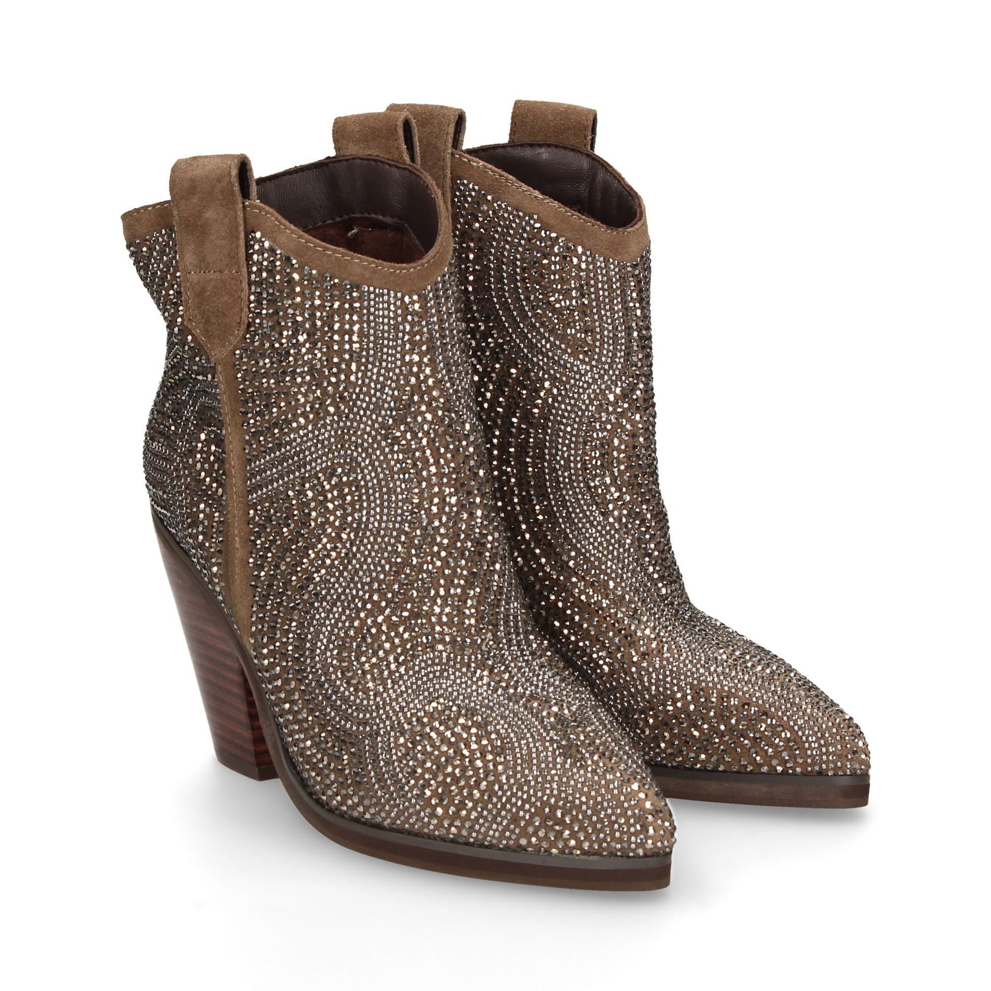 Supervivencia petróleo cerca  ALMA EN PENA Women's Heeled ankle boots 114 TAUPE