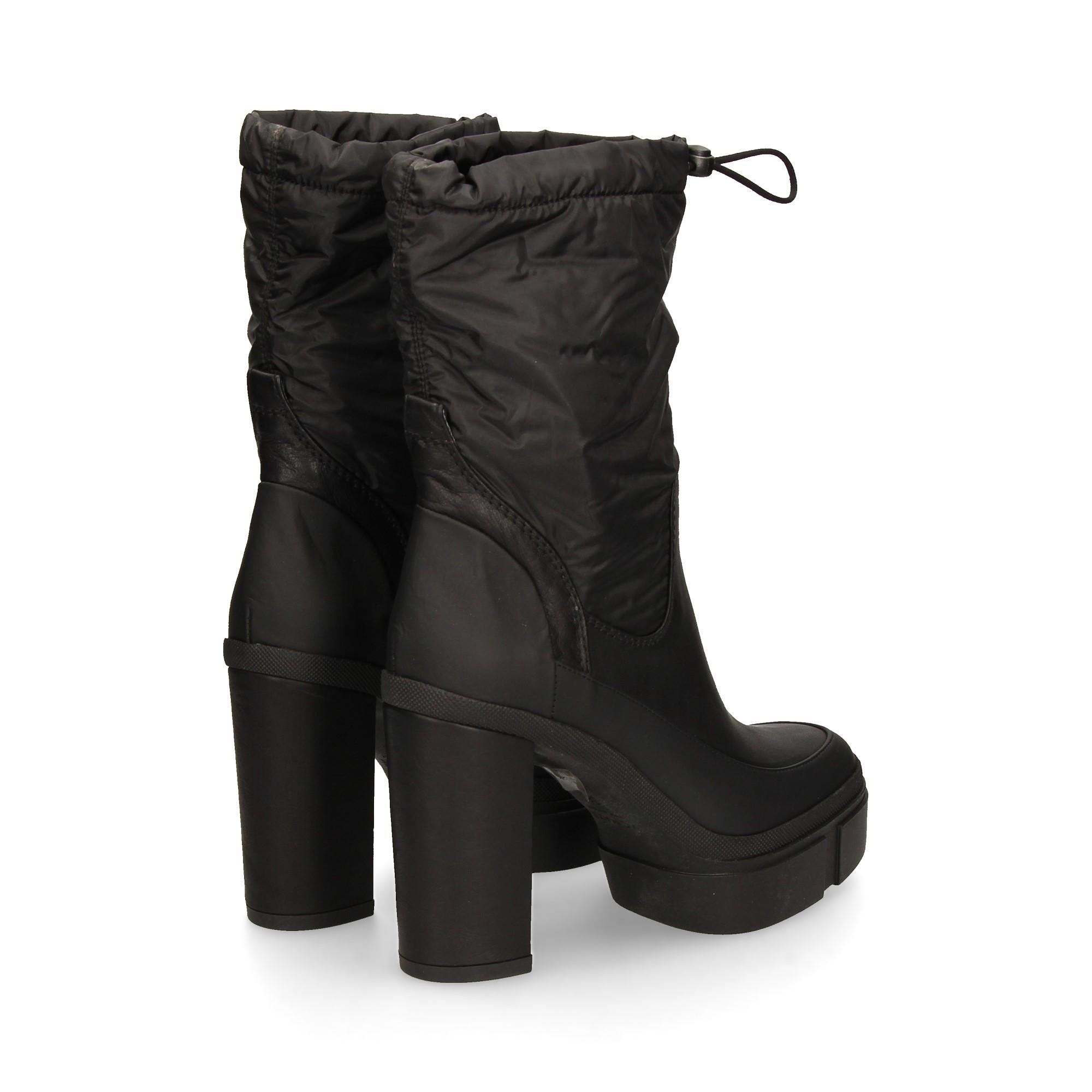 botin-plataforma-nylon-piel-negro