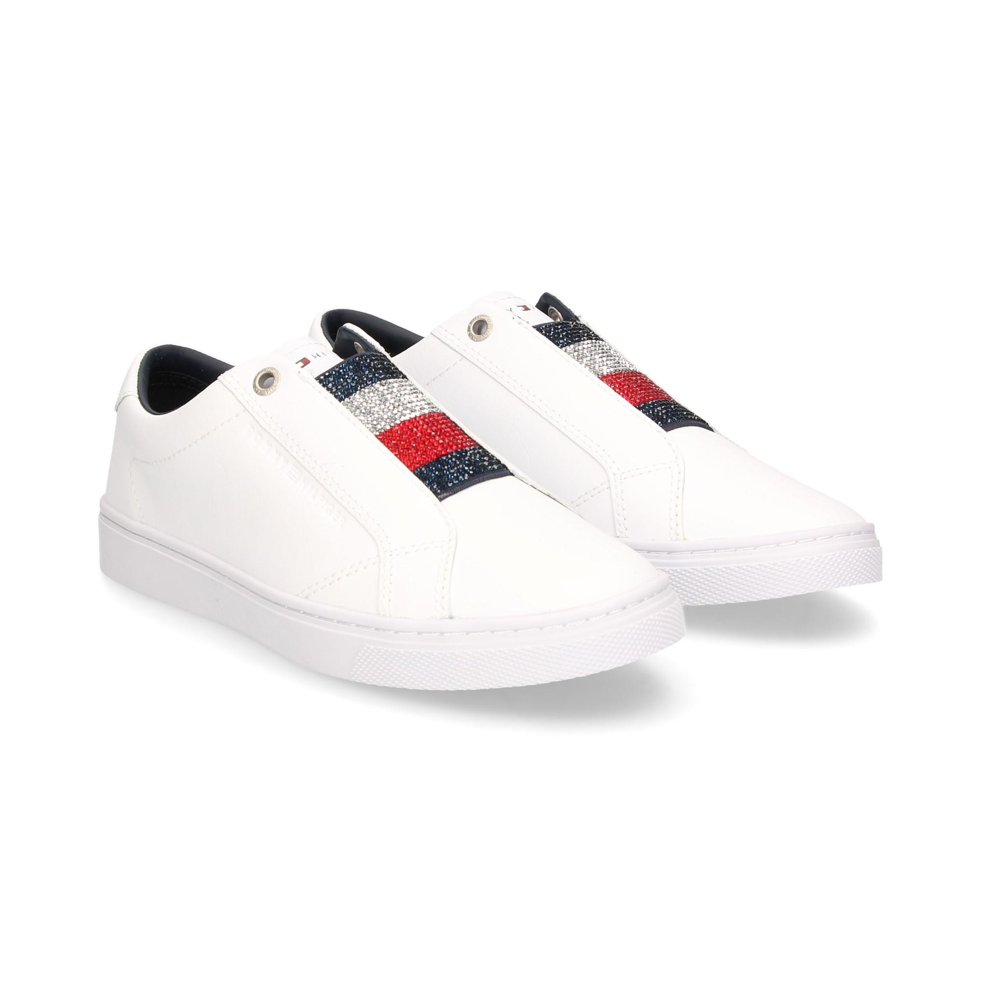 crisis Cuerda Temporada  tommy hilfiger blanco tennis zapatillas new style 24879 b6ad5
