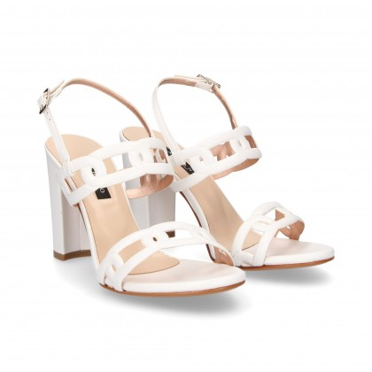 SANDAL 2 STRAPS STRAPS WHITE CHAINS